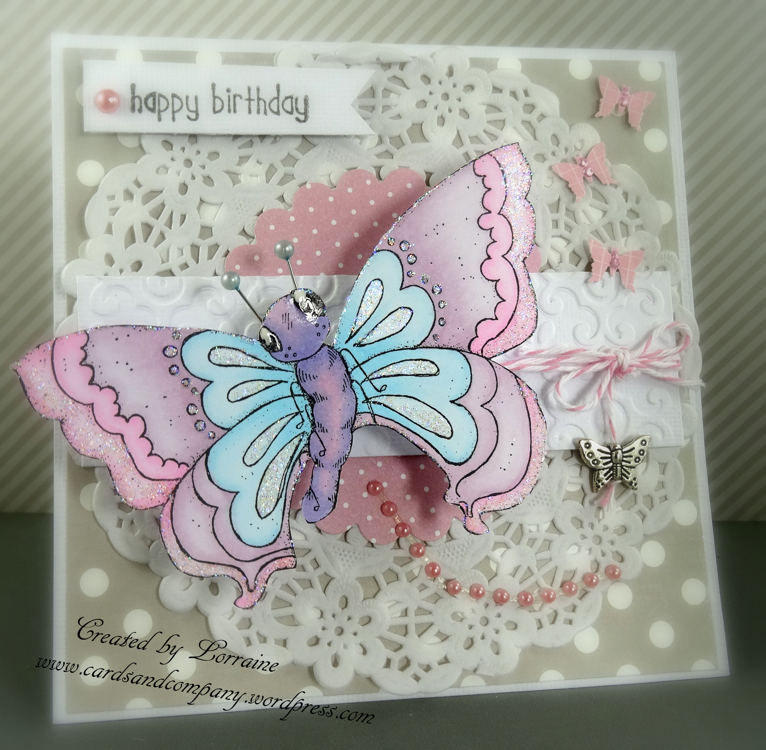 Butterfly 2nd Birthday Card